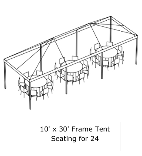 Elite events rentals tents elite events rentals for Wedding tent layout tool