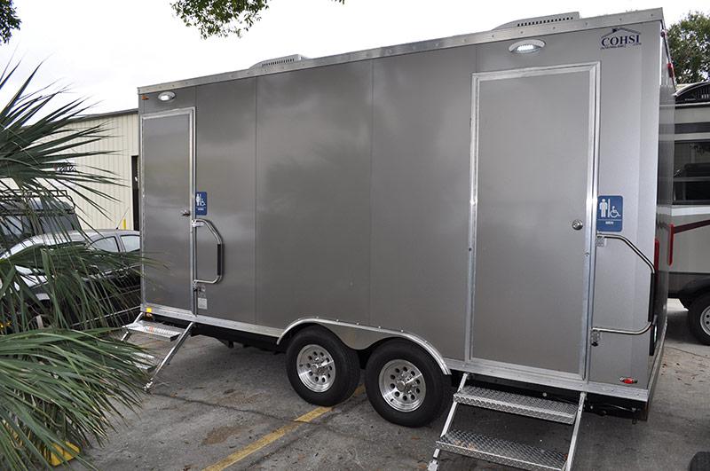 Elite events rentals restroom trailer rentals elite for Bathroom trailer rental