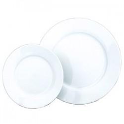 White Dinner and Dessert Plate